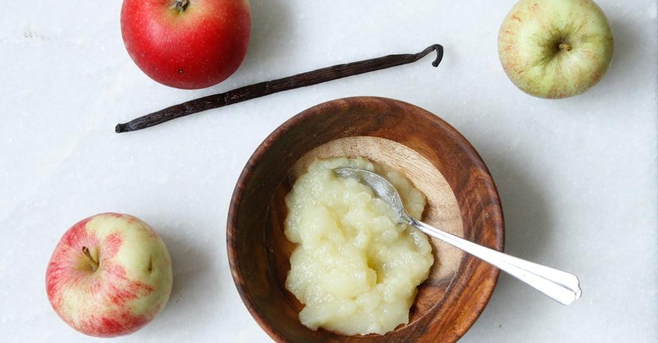 Opskrift På Sund Hjemmelavet æblemos Frugtmos Med æble Til Din Baby
